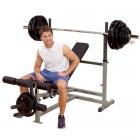 Универсальная скамья для жима олимпийской штанги GDIB-46L (Body-Solid POWERLINE)