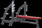 Олимпийская горизонтальная скамья KFOFB (KRAFT FITNESS FREE WEIGHT LINE)