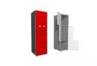Шкаф двухсекционный, деление секций - дверцы Г и L - образные 400х500х2100 meb03