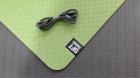Мат для йоги 6 мм двухслойный зеленый-черный