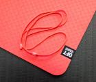 Мат для йоги 6 мм двухслойный красный-черный