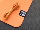 Мат для йоги 6 мм двухслойный оранжевый-черный