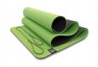 Мат для йоги 6 мм двухслойный перфорированный зеленый