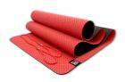 Мат для йоги 6 мм двухслойный перфорированный красный