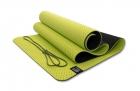 Мат для йоги 6 мм двухслойный перфорированный оливковый