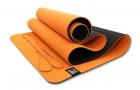 Мат для йоги 6 мм двухслойный перфорированный оранжевый