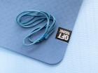 Мат для йоги 6 мм двухслойный темно-синий светло-синий