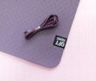 Мат для йоги 6 мм двухслойный темно-фиолетовый светло-фиолетовый