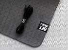 Мат для йоги 6 мм двухслойный черный-серый