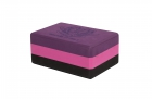 Блок для йоги трехцветный премиум в коробке