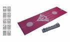Коврик для йоги 2.5 мм пурпурный в сумке с ремешком