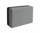Блок для йоги серый-черный