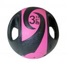 Мяч тренировочный (медицинбол) с хватами, 3 кг