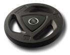 Диск олимпийский 20 кг ZIVA серии ZVO уретановое покрытие черный