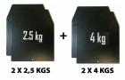 Комплект весовых пластин для утяжелительного жилета